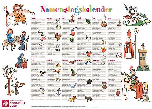 Katholischer kalender namenstage